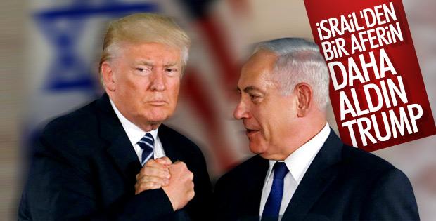 Netanyahu Trump'a minnettar