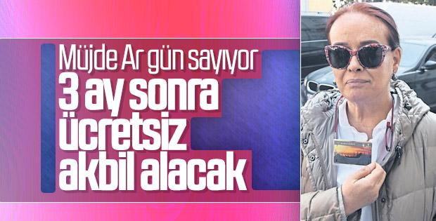 Müjde Ar: Akbil'le İstanbul'u geziyorum