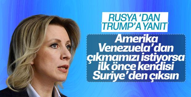 Mariya Zaharova: Trump ilk önce Suriye'den çıksın