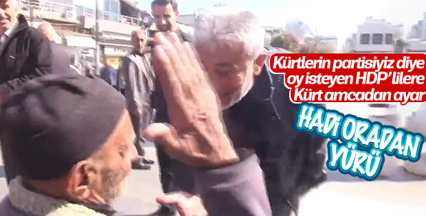 Diyarbakırlı dede HDP'lileri başından kovdu