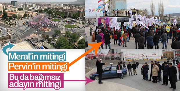 Kayseri'de bağımsız aday miting düzenledi