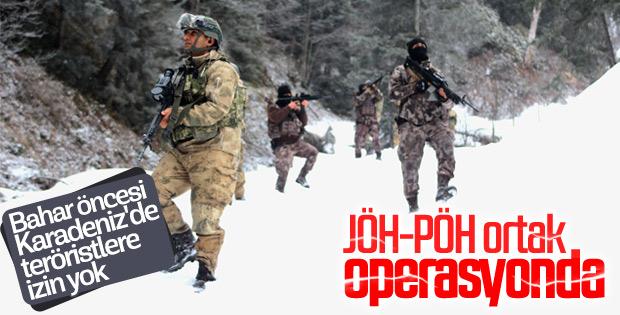 TSK, Karadeniz'de terör örgütü üyelerine göz açtırmıyor