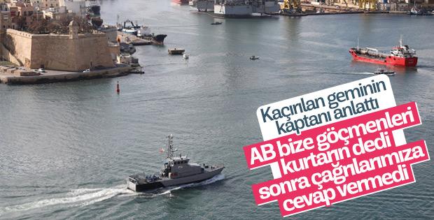 Kaçırılan geminin Türk kaptanı olayı anlattı