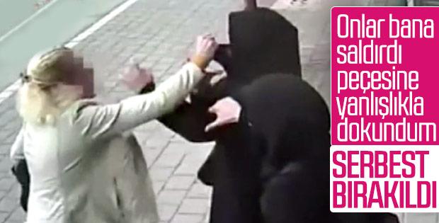 Adana'da tesettürlü kadınlara saldıran kişi serbest