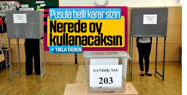 31 Mart yerel seçimlerinde nerede oy kullanacaksınız