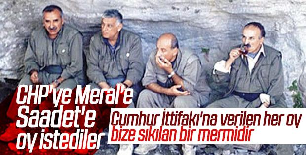 PKK millet ittifakına oy istedi
