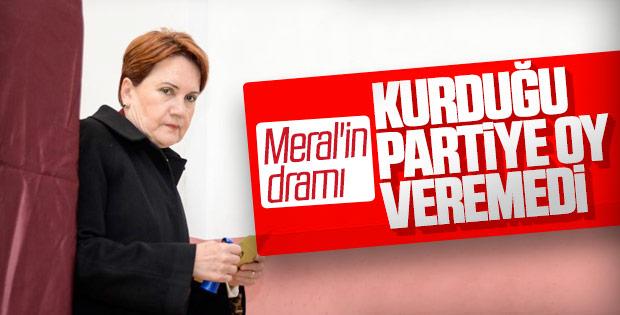 Meral Akşener oyunu kullandı