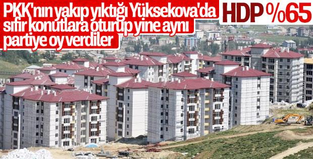 Hakkari'nin Yüksekova ilçesinde HDP kazandı