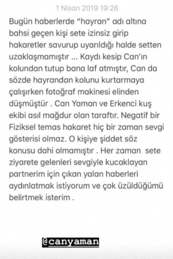 Demet Özdemir'den Can Yaman açıklaması
