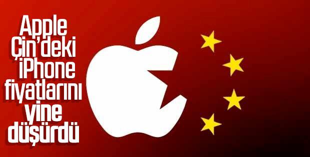 Apple Çin'deki iPhone fiyatlarını yine düşürdü