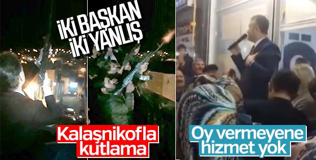 Mardin'de seçimi havaya ateş açarak kutlayanlar oldu