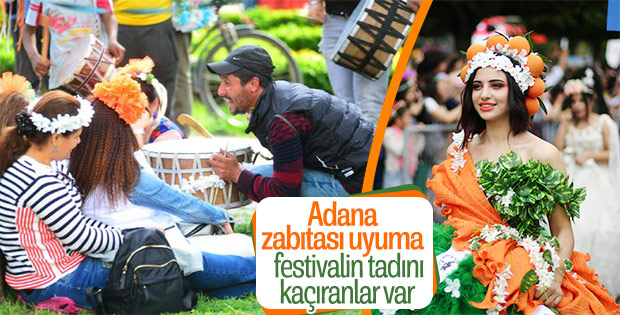 Adana'daki festivalde davulcu rahatsızlığı
