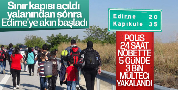 Mülteciler yine Edirne'deki sınır kapısından geçmek istedi