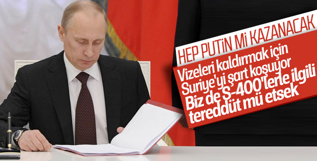 Türklere vizesiz Rusya seyahati, Putin'e soruldu