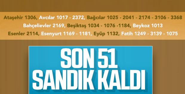 İstanbul'da yeniden sayılacak 51 sandık