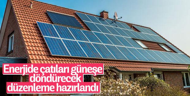Enerjide çatıları güneşe döndürecek düzenleme