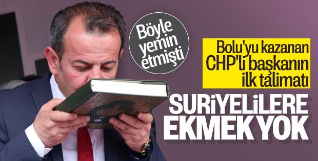 Bolu Belediye Başkanı'nın ilk talimatı