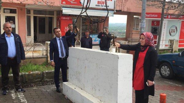 HDP'lilerin ilk çalışması: Beton bariyerleri kaldırmak