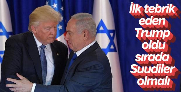 Trump, Netanyahu'yu tebrik etti