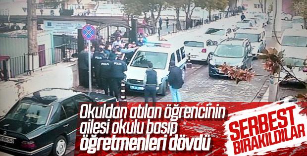 Denizli'de okulu basan aile serbest bırakıldı
