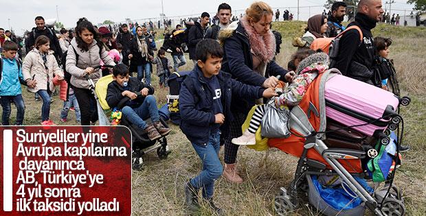 AB Suriyeliler için vadettiği desteği Türkiye'ye gönderdi