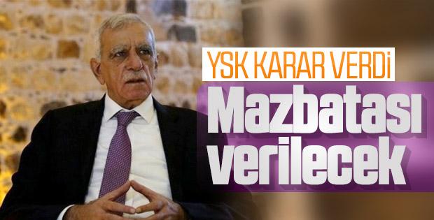 YSK, Ahmet Türk'e mazbata verecek