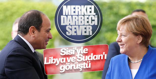 Sisi ile Merkel görüşme gerçekleştirdi