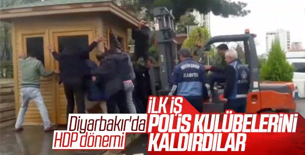 HDP'li başkan polis kulübesini kaldırttı