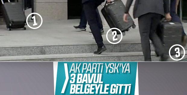 AK Parti 3 bavul belge ile itiraza gitti