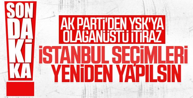 AK Parti İstanbul seçimlerine itiraz etti