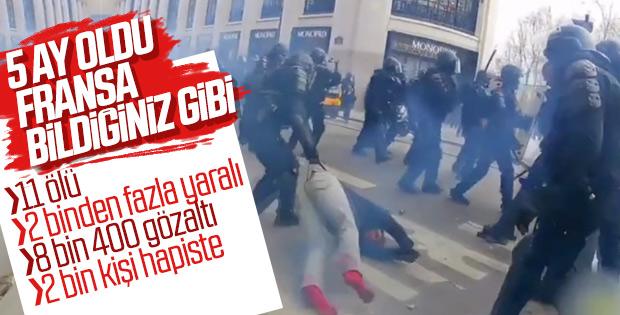 Fransa'da Sarı Yelekliler 5 aydır sokaklarda