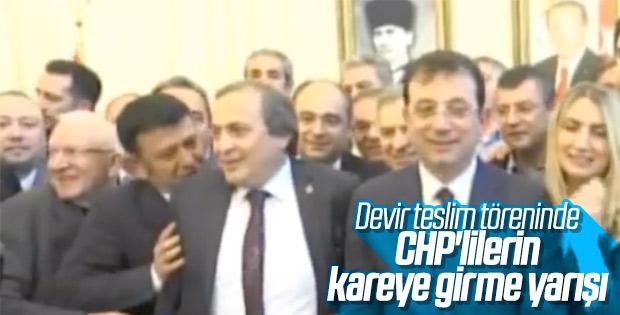 CHP'li yöneticiler birbirini itti