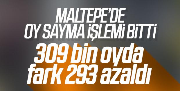 Maltepe'de yeniden oy sayımı bitti