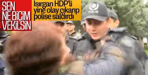 Polisi ısıran HDP'li yine başrolde