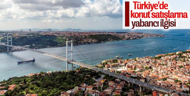 Yabancılar Türkiye'den konut alıyor