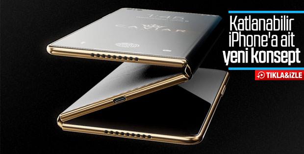 Katlanabilir ekranlı yeni iPhone konsepti