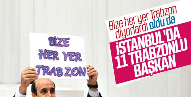 İstanbul'u Trabzonlu başkanlar yönetiyor