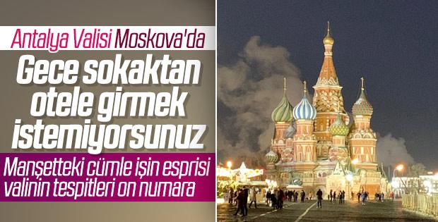 Antalya Valisi Münir Karaloğlu'nun Rusya izlenimleri