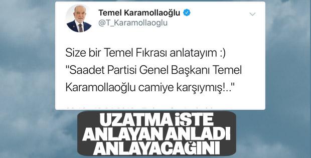 Karamollaoğlu, Çamlıca Camii tartışmasını sürdürüyor