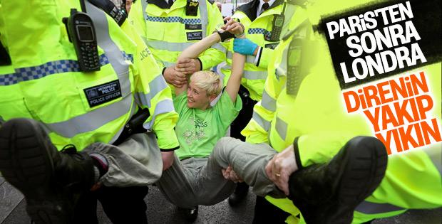 Londra'da iklim protestosunda gözaltılar sürüyor