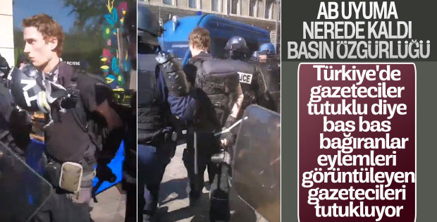 Fransız polisi gazetecileri tutukladı