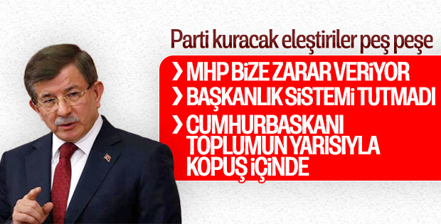 Ahmet Davutoğlu eleştirilerini sıraladı