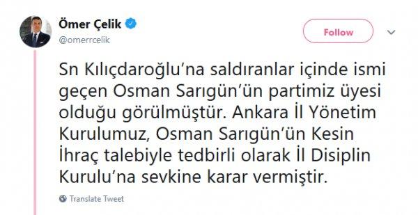 Kılıçdaroğlu'na saldıran kişilerden biri AK Parti üyesi