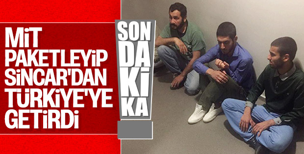 Sincar'da yakalanan 4 terörist Türkiye'ye getirildi