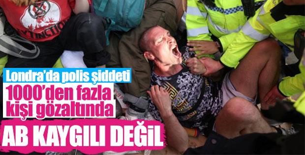 Londra'da protestolarda gözaltı sayısı artıyor