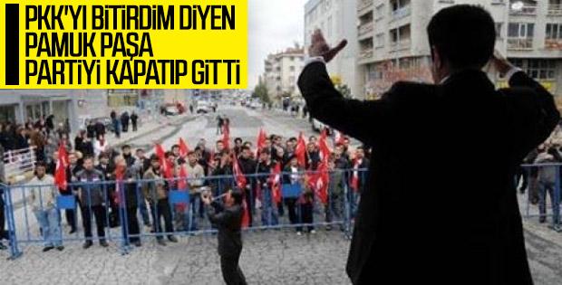 Osman Pamukoğlu partisini kapattı