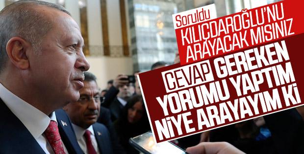 Cumhurbaşkanı: Kılıçdaroğlu olayında yorumumu yaptım