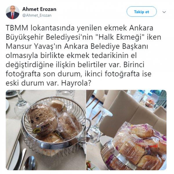 İP'li vekilin gündemi Meclis lokantasındaki ekmekler