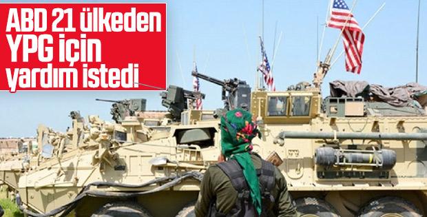 ABD, YPG'ye destek için 21 ülkeden yardım istedi