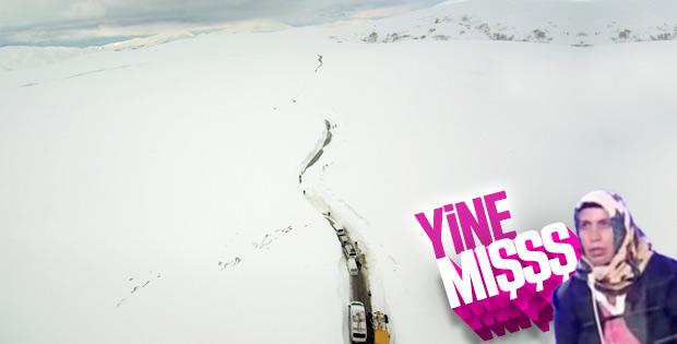 Muş'ta karla mücadele devam ediyor